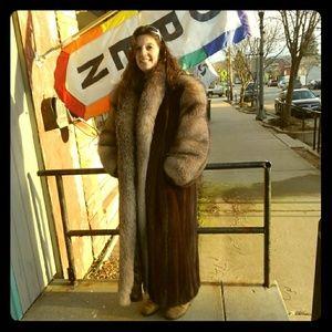 Vintage Bonwit Teller Mink & Fox Fur Coat